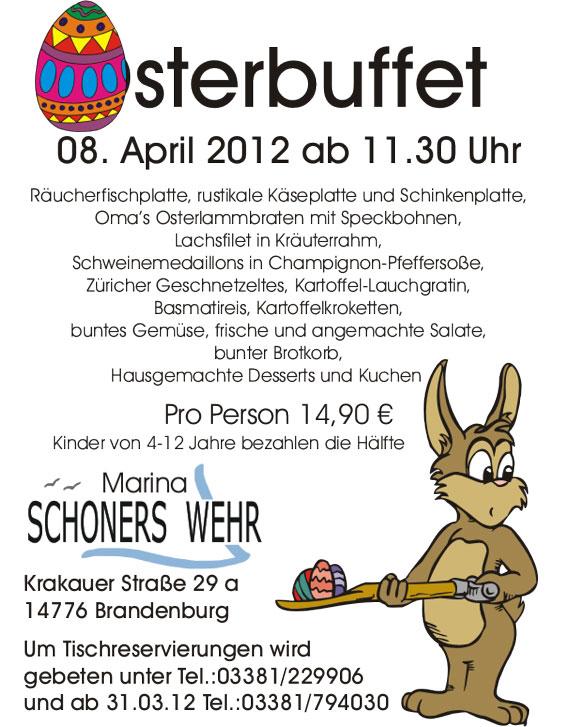 Osterbuffet am 08. April 2012 auf der Marina Schoners Wehr
