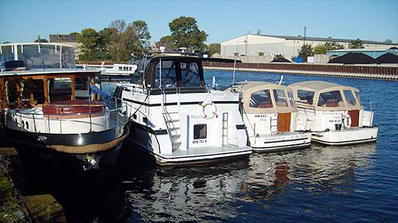 Hausboote im Silokanal