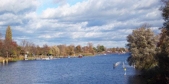 Die Havel mit Blick auf den Silokanal