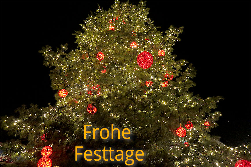 Frohe Festtage 2016