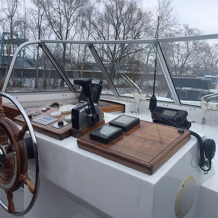 Funkgerät an Bord