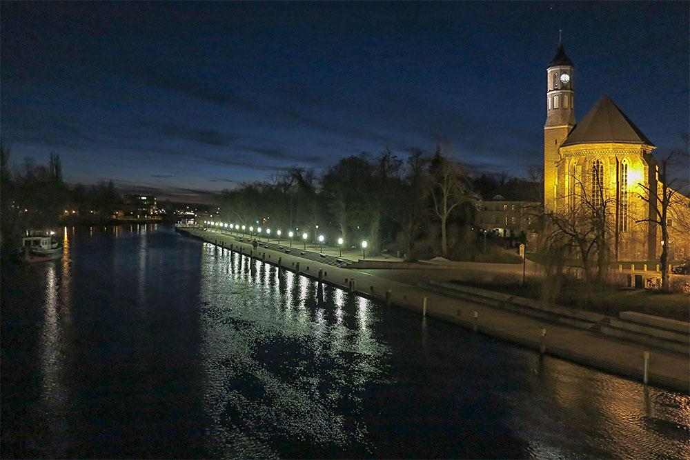 An der Jahrtausendbrücke in Brandenburg an der Havel
